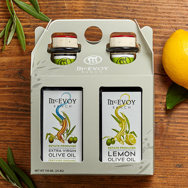 Olive Oil Gift Set - 375ml, EVOO/Lemon