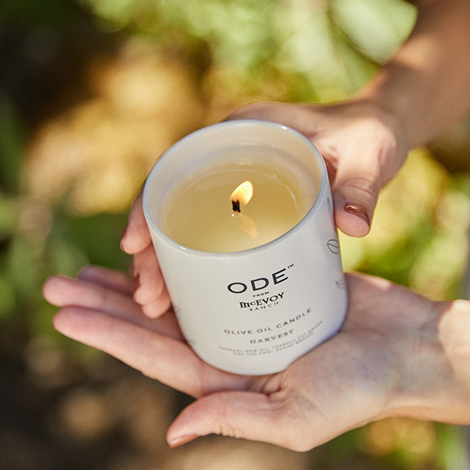 olive oil candle