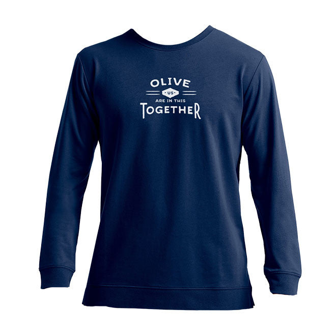 Olive Us Are In This Together Navy Crewneck Sweatshirt