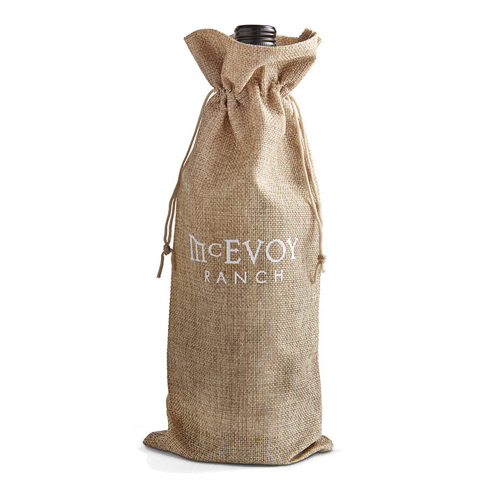 burlap wine bag with logo