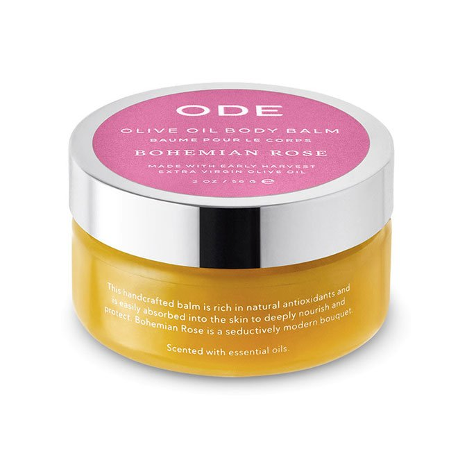 olive oil body balm bohemian rose in a jar
