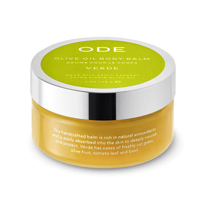 olive oil body balm verde in a jar