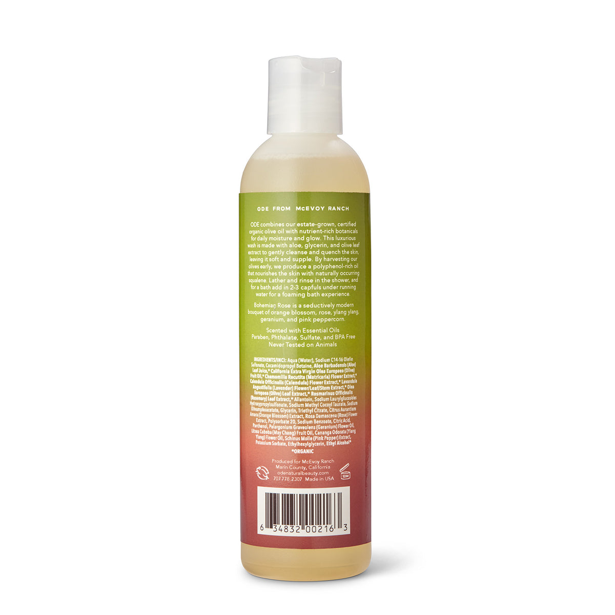 Bohemian Rose Bath and Shower Gel 8 oz