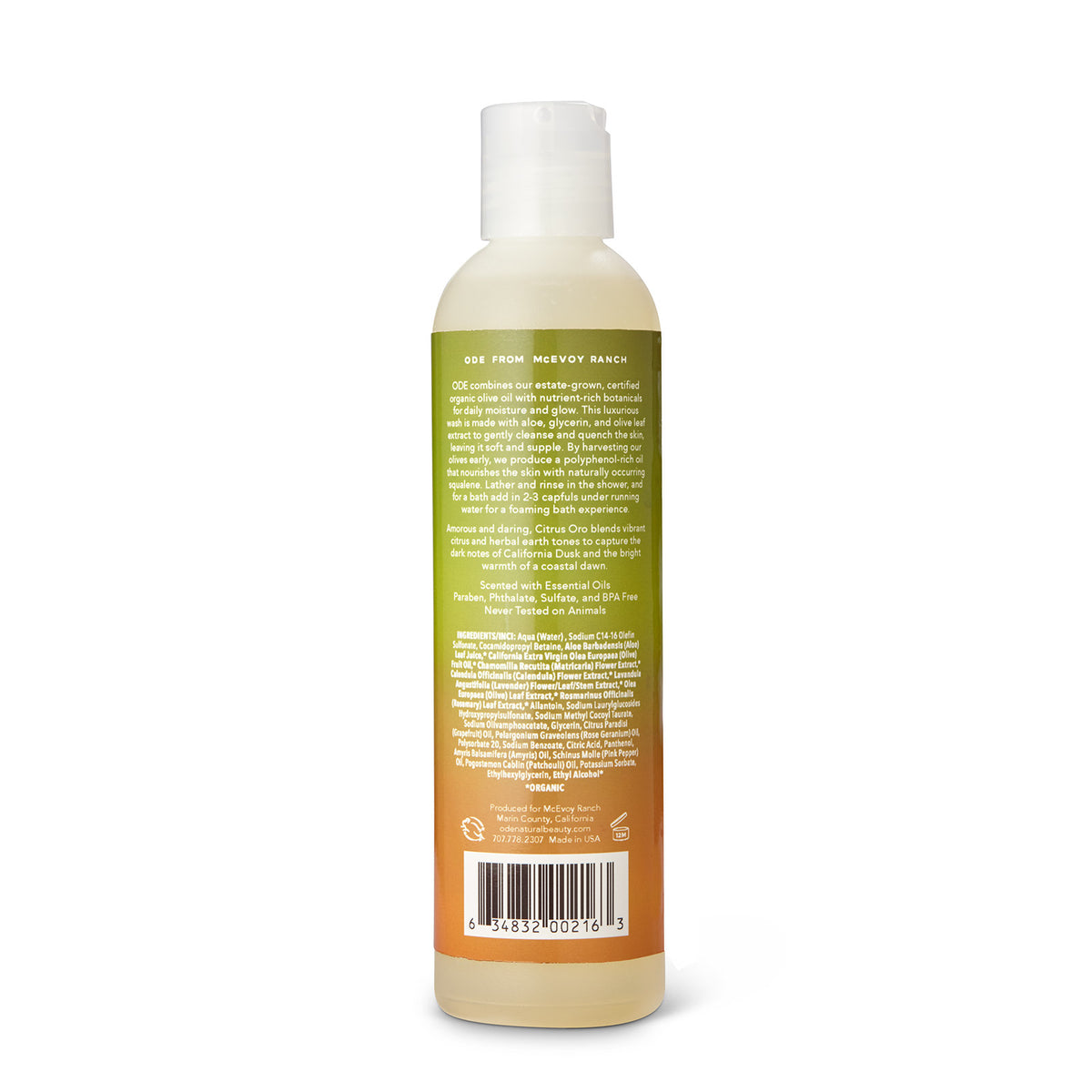 Citrus Oro Bath and Shower Gel 8 oz