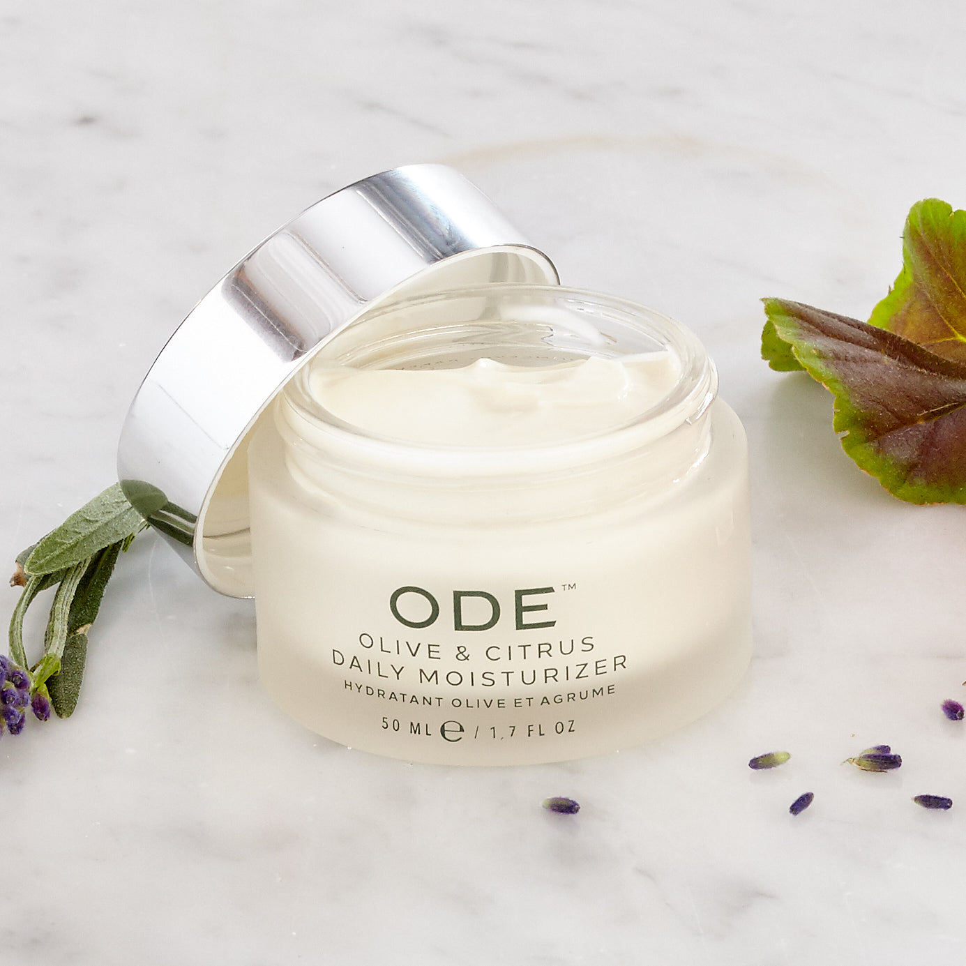 olive oil moisturizer in a jar