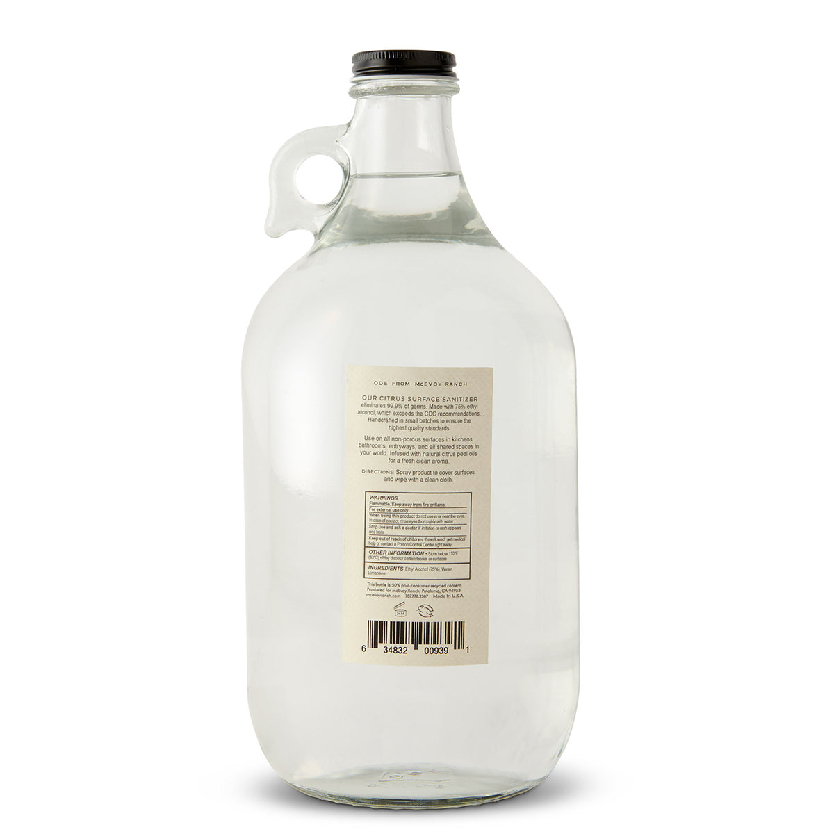 Citrus Surface Sanitizer Spray - Growler Refill 59 oz