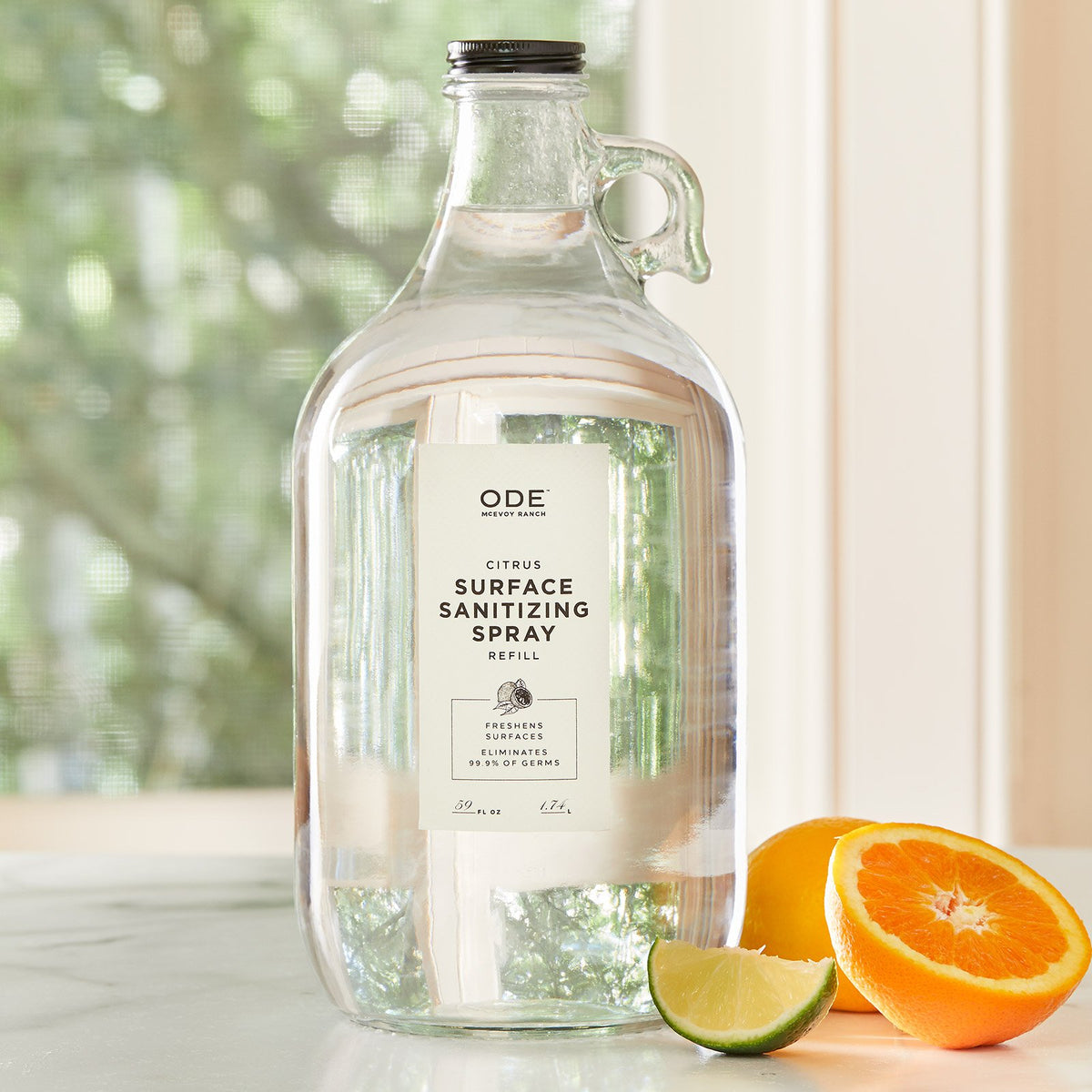 Citrus Surface Sanitizer Spray - 1/2 Gallon Growler Refill