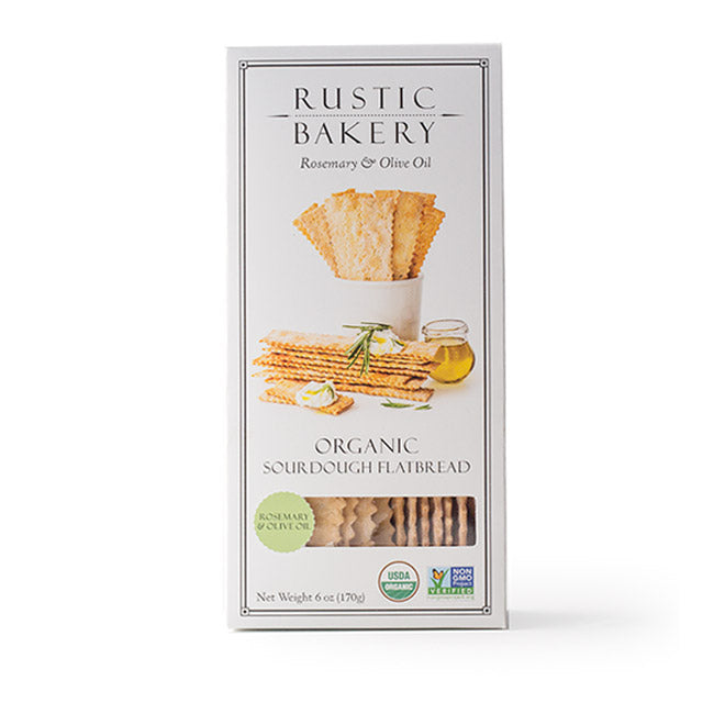 Rustic Bakery Rosemary and Olive Oil Flatbread Crackers