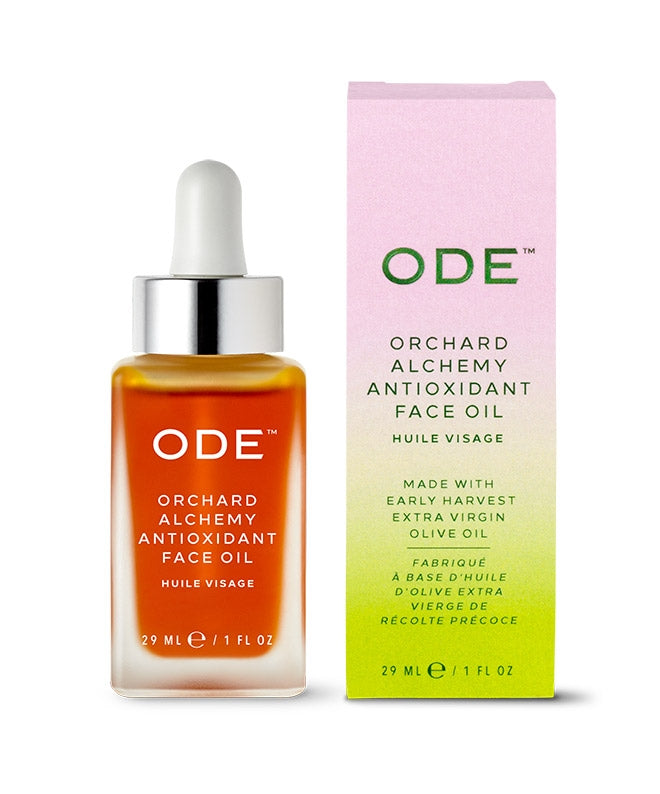 antioxidant face oil in a bottle