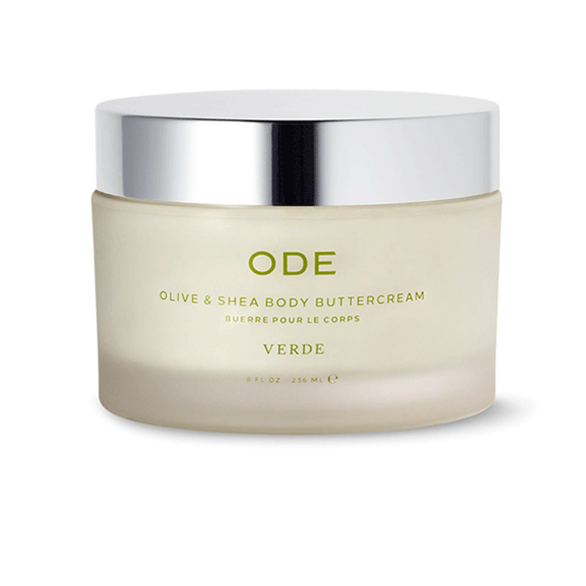 olive and shea body buttercream verde in a jar