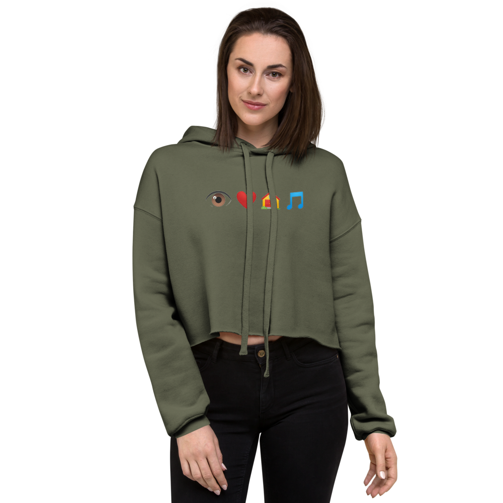 Farris Wheel Emoji Crop Hoodie - BeExtra! Apparel & More