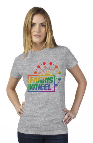 Farris Wheel Womens Happy Pride T-shirt