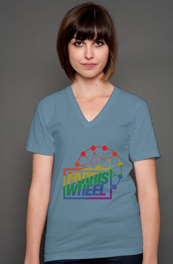 Farris Wheel Happy Pride Unisex V-Neck