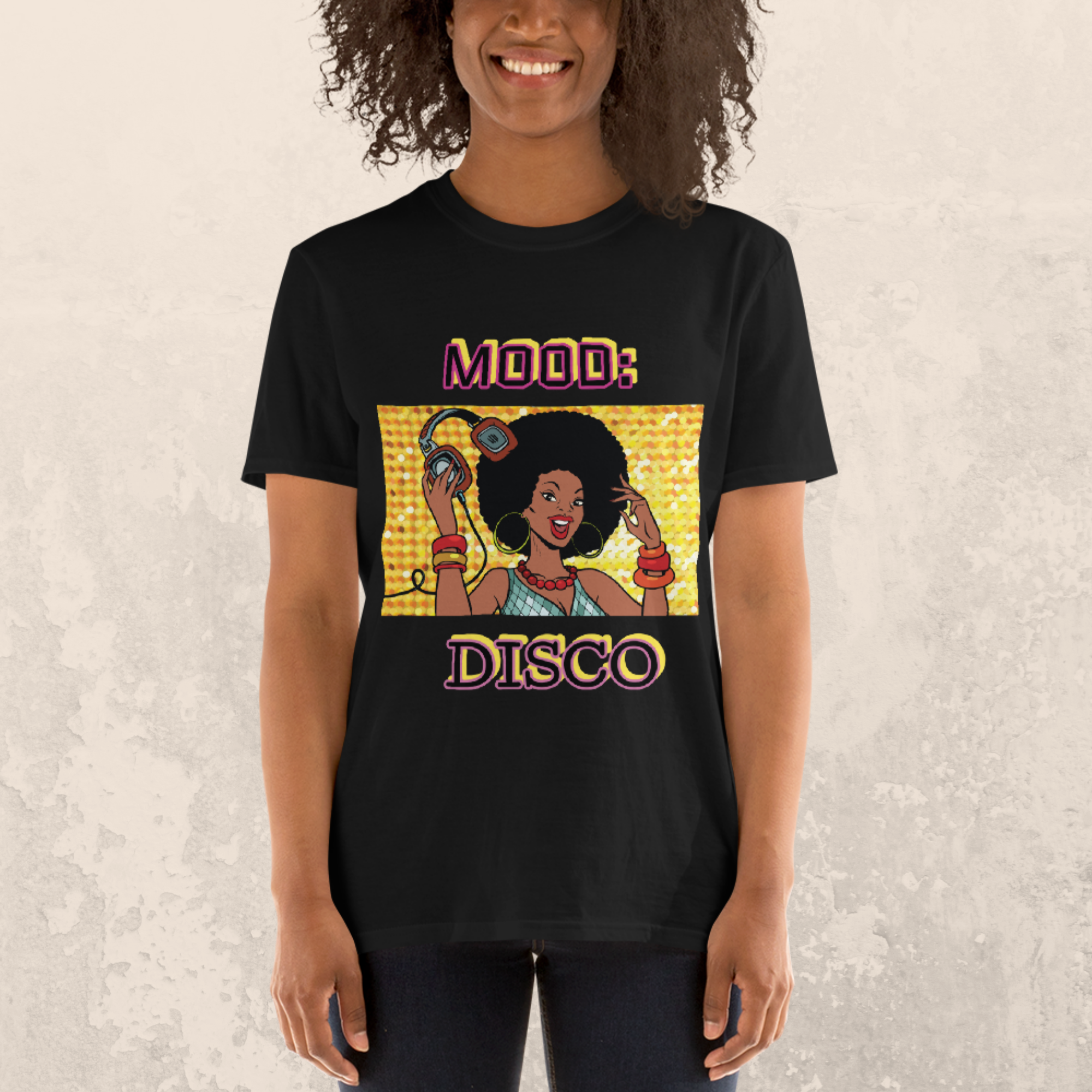 Mood: Disco  Short Sleeve Unisex T-Shirt