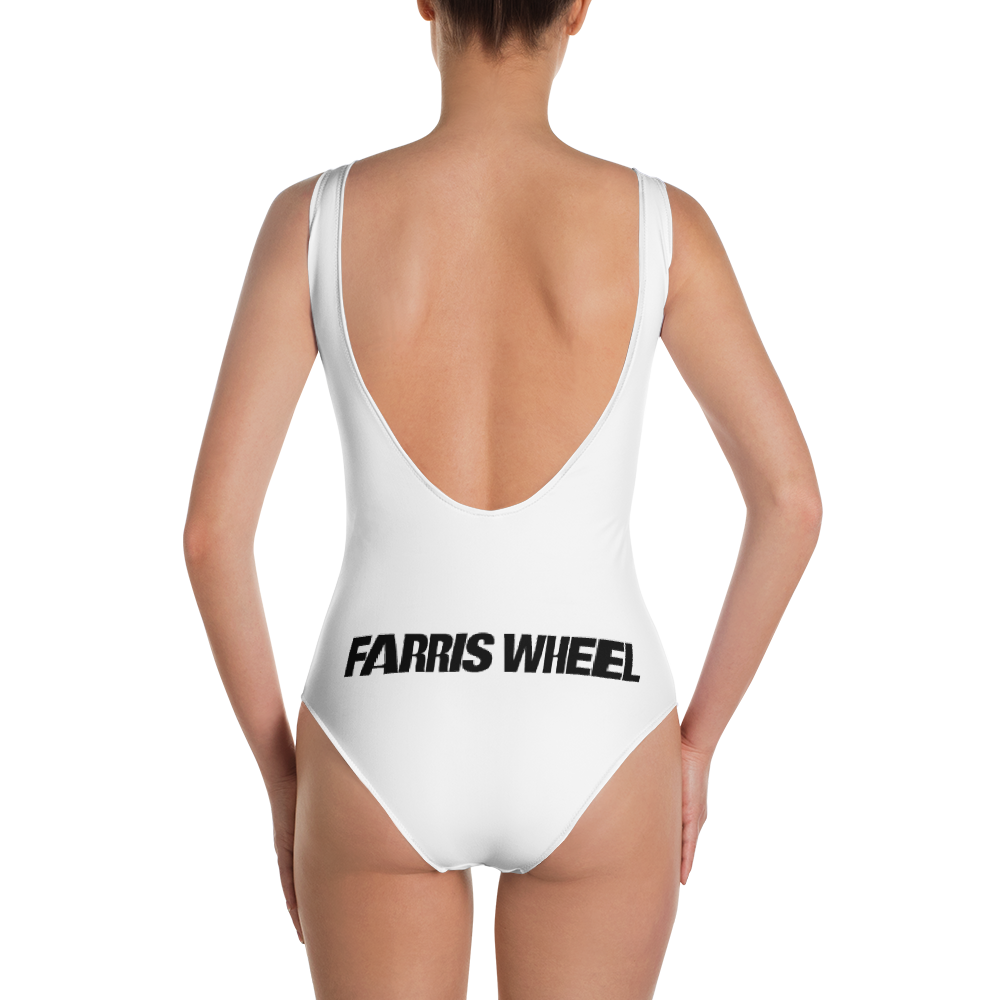 Farris Wheel One-Piece Swimsuit White - BeExtra! Apparel & More