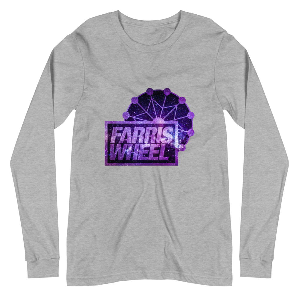 Athletic Heather long sleeve t-shirt with Farris Wheel Recordings logo Star Wars theme