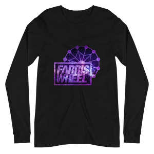 Black long sleeve t-shirt with Farris Wheel Recordings logo Star Wars theme