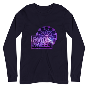 Navy long sleeve t-shirt with Farris Wheel Recordings logo Star Wars theme