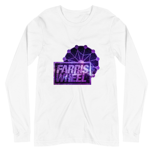 White long sleeve t-shirt with Farris Wheel Recordings logo Star Wars theme