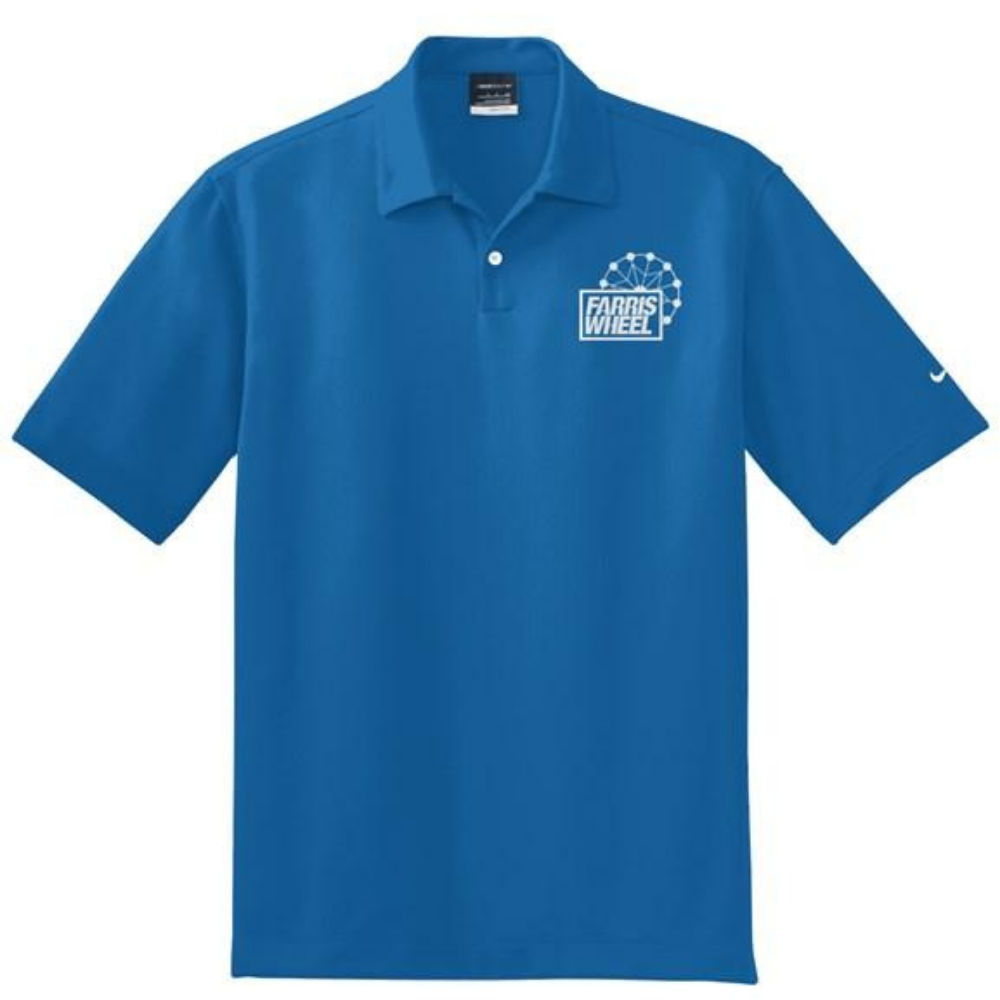Blue Royal Farris Wheel Recordings Nike Polo Shirt