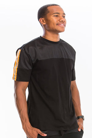 Mesh Cotton Reflective Tshirt