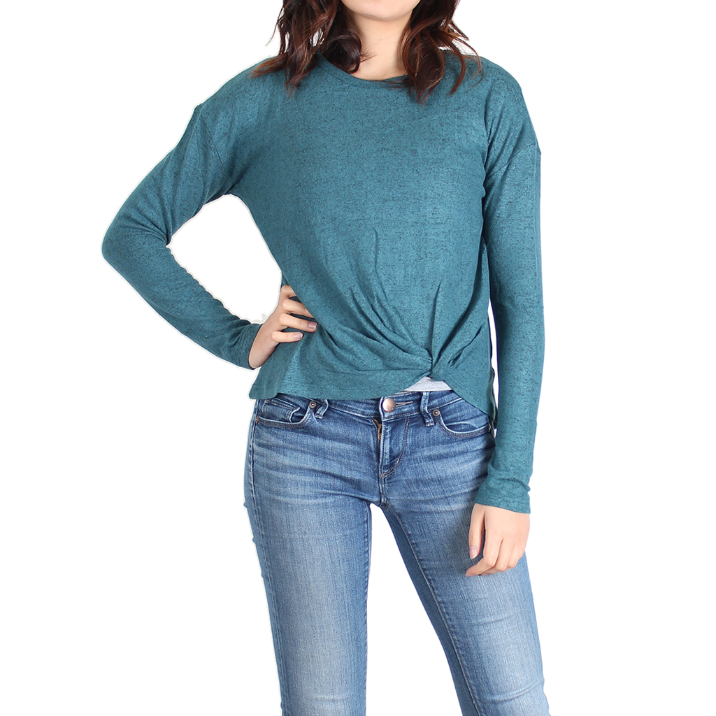 Ladies Twist-Hem Sweater