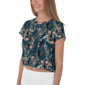 Be Extra! Floral Print Women's Crop Tee