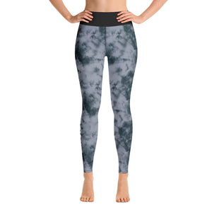 tie dye high waist anti-cellulite leggings grey