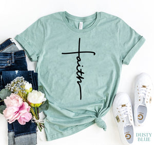 Faith Cross Cuffed Graphic Tee