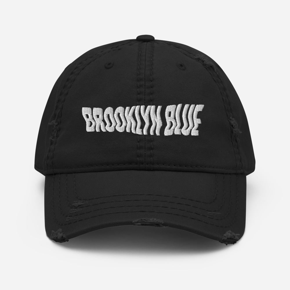 Brooklyn Blue Distressed Dad Hat