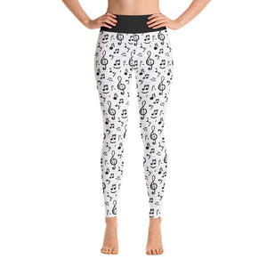 Music Notes - High-Waste Yoga Leggings - BeExtra! Apparel & More