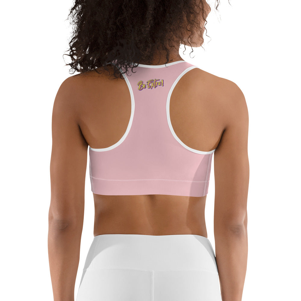 Be Extra Sports Bra - Pink - BeExtra! Apparel & More