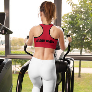 Farris Wheel Red Sports Bra - BeExtra! Apparel & More