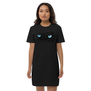 Wild Cat Organic Cotton T-shirt Dress