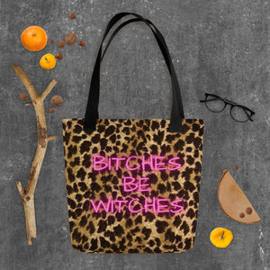 Halloween Addition Leopard Print Tote Bag
