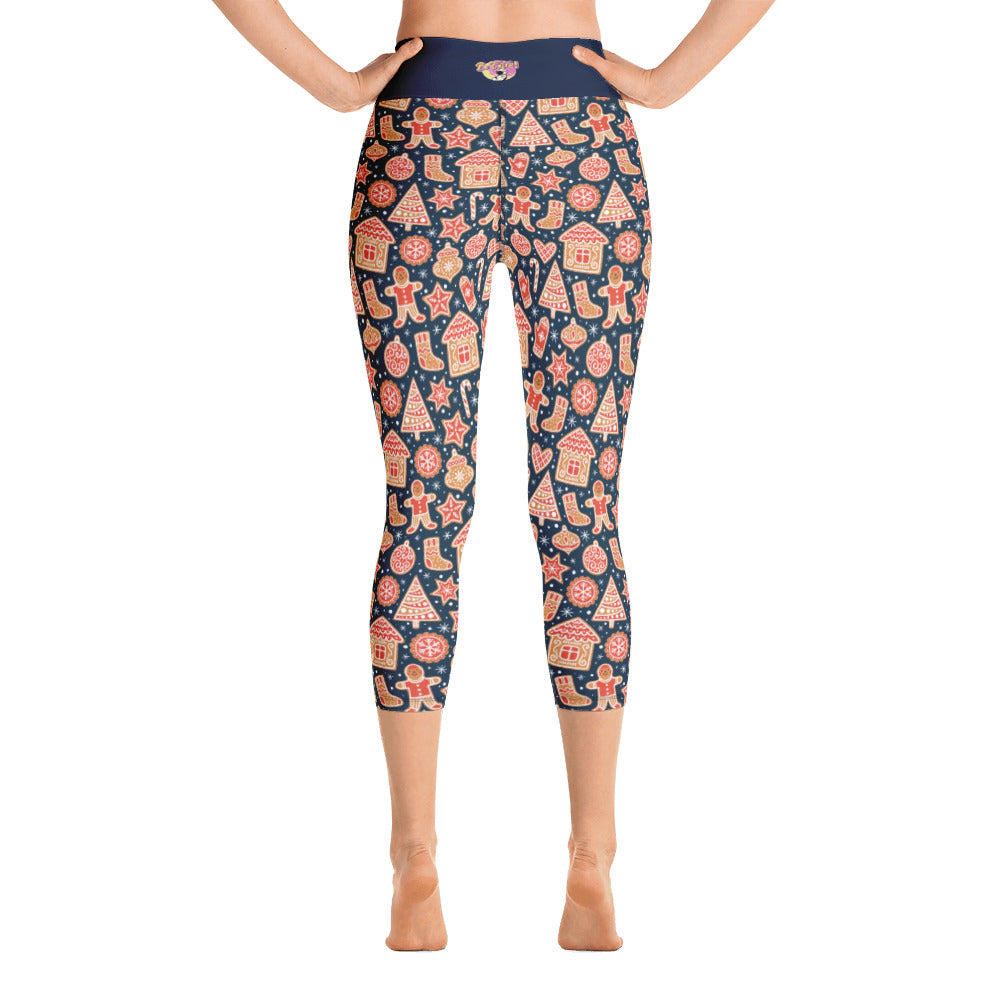Holiday Cookies Yoga Capri Leggings