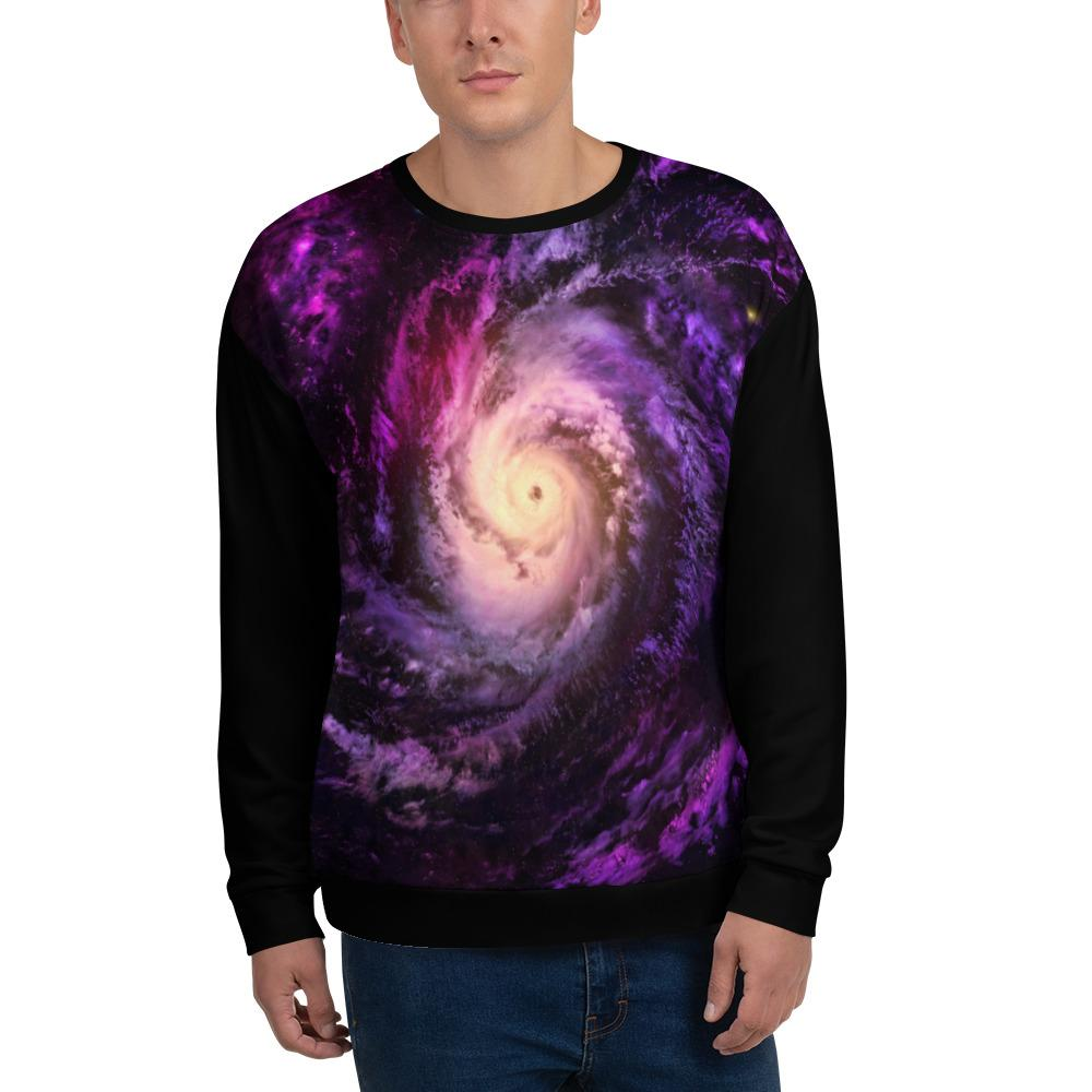 Unisex Space Print, Galaxy Print Unisex Sweatshirt, street wear, street fashion