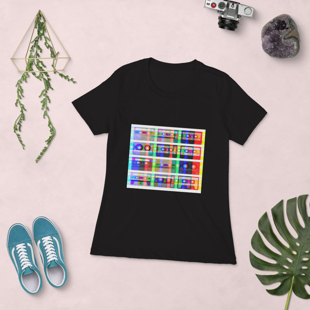 Color Mix Cassettes - Women's Short Sleeve T-shirt - BeExtra! Apparel & More
