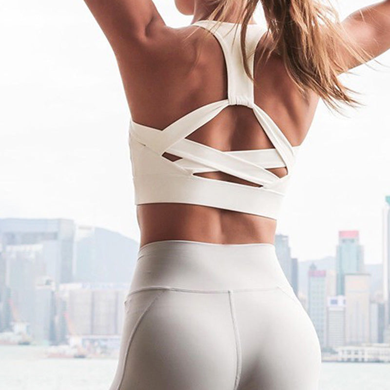 Be Extra!  Crossed Back Sports Bra