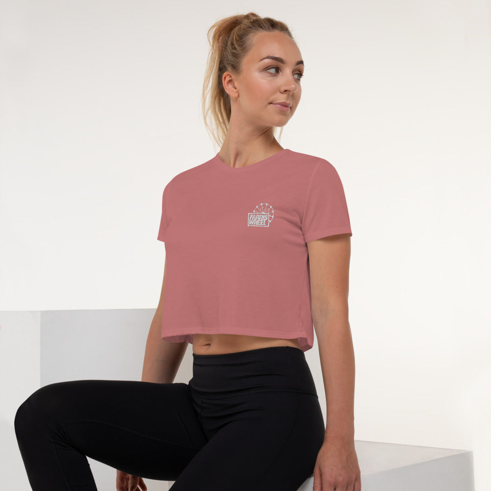 Farris Wheel Embroidered Crop Top