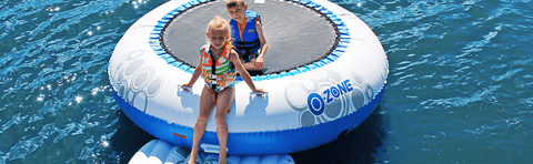 Rave Sports 8' O-Zone Plus Water Bouncer with Slide
