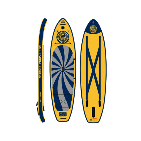 SOL Paddle Boards SOLtrain Inflatable Paddle Board - GalaXy top, bottom, view