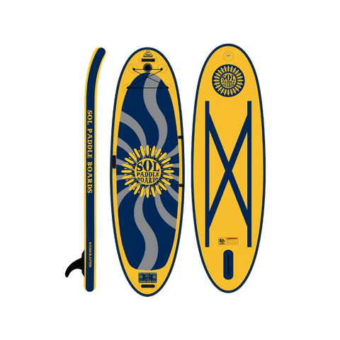 SOL Paddle Boards SOLshiva Inflatable Paddle Board - GalaXy top, bottom, side view