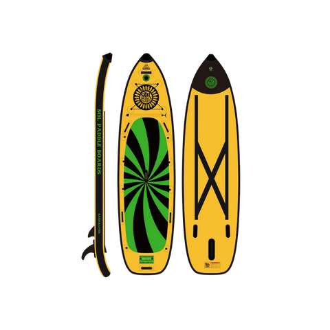 SOL Paddle Boards SOLsumo Inflatable Paddle Board top, bottom, side view