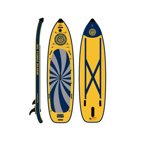 SOL Paddle Boards SOLsumo Inflatable Paddle Board - GalaXy top, bottom, side view