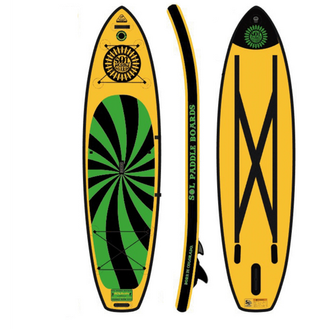 SOL Paddle Boards SOLtrain Inflatable Paddle Board - Carbon GalaXy