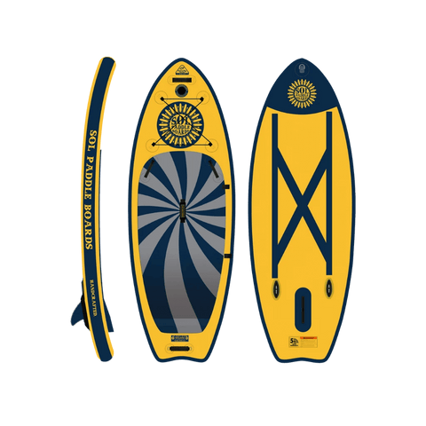 SOL Paddle Boards SOLocho Inflatable Paddle Board - GalaXy top, bottom, side view