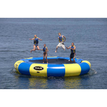 Load image into Gallery viewer, 4 person enjoying the Bouncer - Rave Aqua Jump Eclipse 200 Water Trampoline 00200