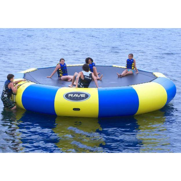 5 person in Rave Sports Bongo Bouncer 20 - 20'  Springless Water Bouncer 02020