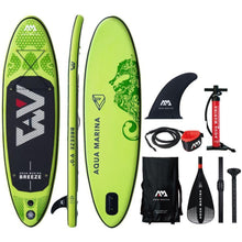 Load image into Gallery viewer, Inflatable Paddle Board - Aqua Marina 2019 Breeze 9' Inflatable Paddle Board ISUP BT-19BRP